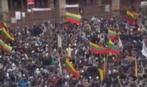 Литва празднует юбилей независимости