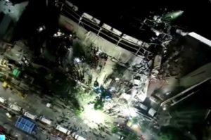 В Китае обрушился отель, находившийся на карантине